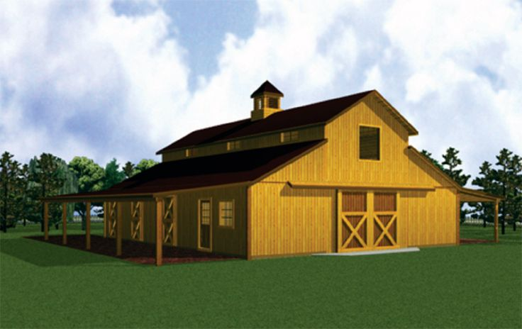 29 best gambrel barn plans images on pinterest barn for Custom barn homes