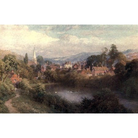 Surrey 1906 Godalming a bit of the old town Canvas Art - Harold Sutton Palmer (18 x 24)