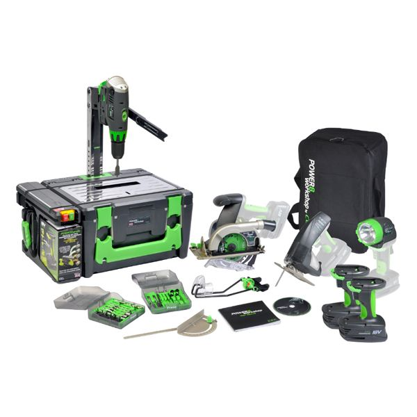 an amazing collection of every power tool you might need for almost any project - all in one box/bag #DIY #gadgets