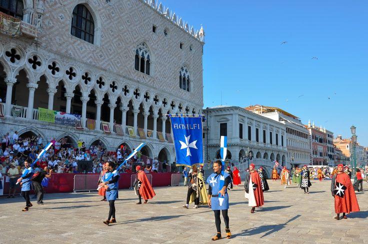 Amalfi's representatives, Historical Parade, Regatta of the Ancient Maritime Republics, Venice, Italy