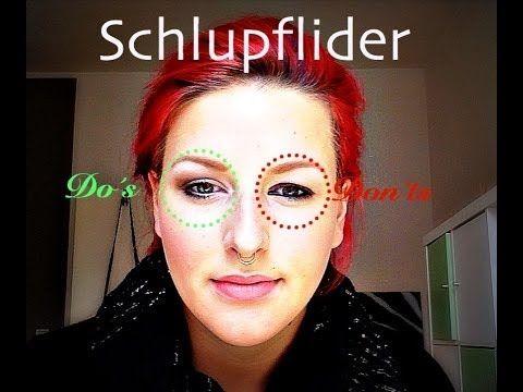 BRILLENMAKE-UP für SCHLUPFLIDER (Augen größer und kleiner schminken)