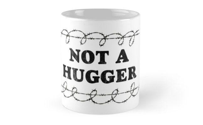Not A Hugger Barb Wire Artwork Mug Nalgene Bottle Bathroom Artwork Mugs