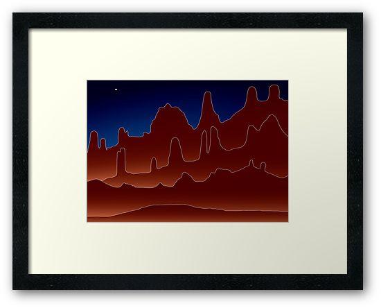 Pinnacles - abstract framed print
