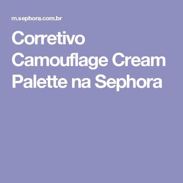 Corretivo Camouflage Cream Palette na Sephora