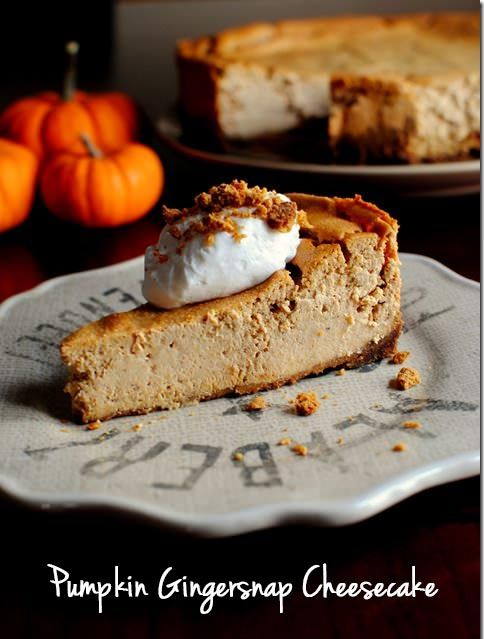 Pumpkin Gingersnap Cheesecakes is sweetly spiced, creamy and totally decadent. | iowagirleats.com