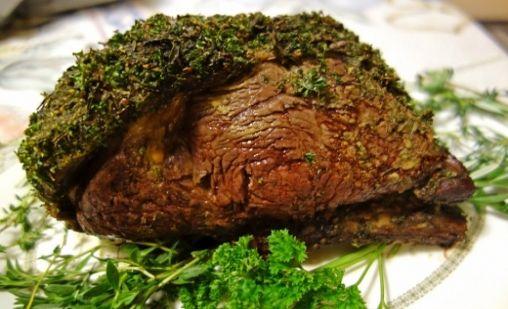 Herb Crusted Rib Roast | Beef Recipes | Pinterest