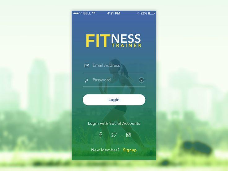 Fitness App Login Screen For Ios App Login Workout Apps App