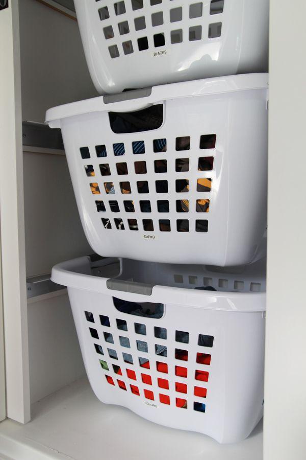 1000 ideas about laundry basket organization on pinterest