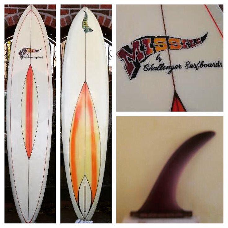 "A 1968 ""missile"" model, by challenger surfboards, vintage surfboards 🌝"
