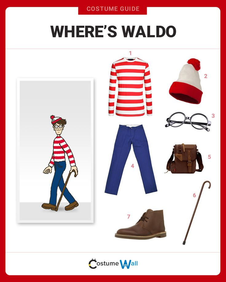 If you're a reader looking for a distinctive book character to cosplay, we highly recommend a Where's Waldo costume.