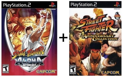 2 Game Combo: Street Fighter Anniversary and Street Fighter Alpha Collection for Playstation 2 (also works on Playstation 3) $28.48