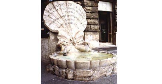 fontana delle api in via veneto