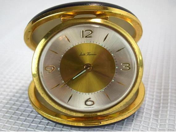 Vintage Seth Thomas Travel Alarm Clock Presidents Award