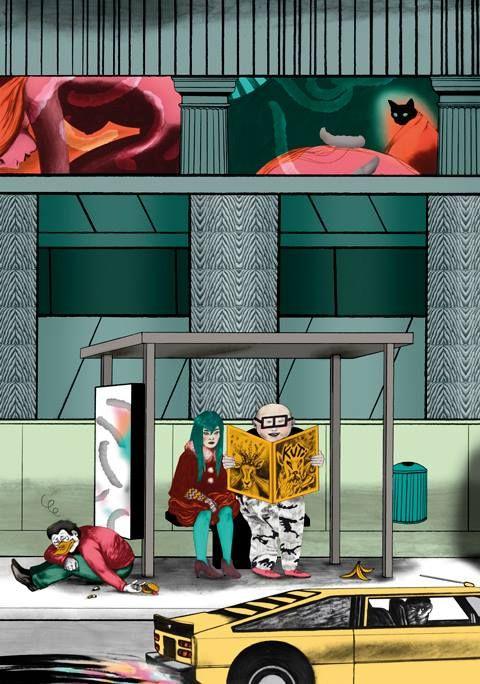 Illustration by Pauliina Mäkelä for Beyonderground Festival Poster Expo, 2014