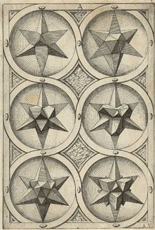 Jost Amman, after Wenzel Jamnitzer, Plate AV from Perspectiva corporum regularium, 1568
