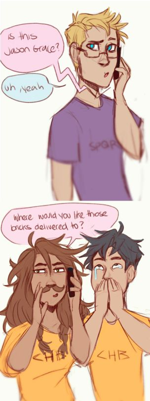 Piper and Percy prank calling Jason.. it's part of a comic but this part was my favorite.