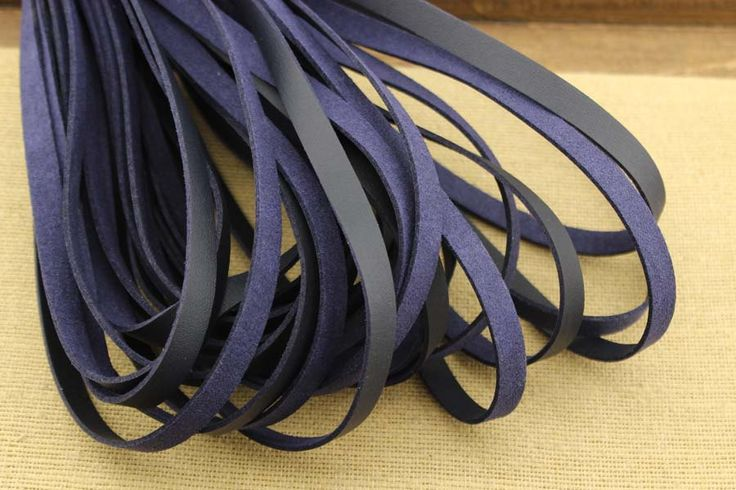 CYZ-P135 10mm suede cord,purple suede necklace cord wholesale,leather cord and findings, 10*1.5 mm flat leather cord, Faux Leather, 10meters by DIYArtMall on Etsy