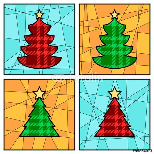 Vettoriale: Christmas Greeting Cards