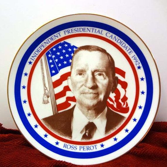 Ross Perot Independent Party Nominee 1992 Presidential Election Limited Edition Royal Windsor Commemorative Plate
