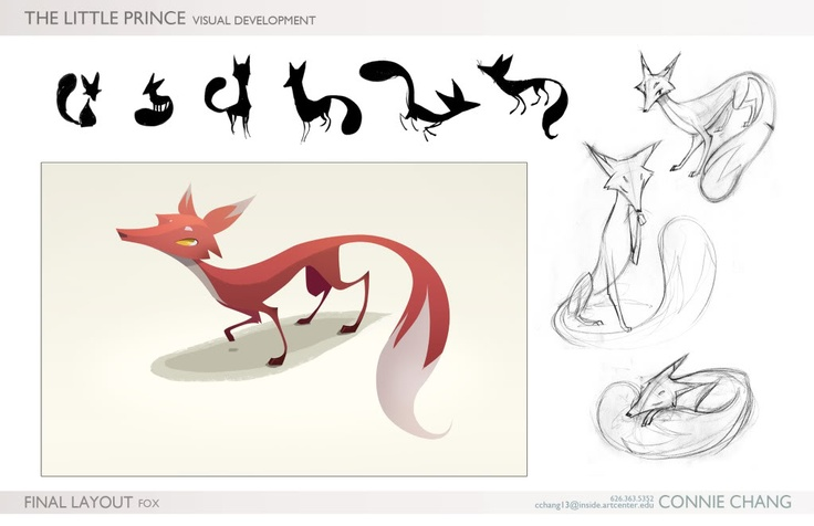 FOX - The Little Prince - final layout | Illustrator: Connie Chang - http://conniechangportfolio.tumblr.com