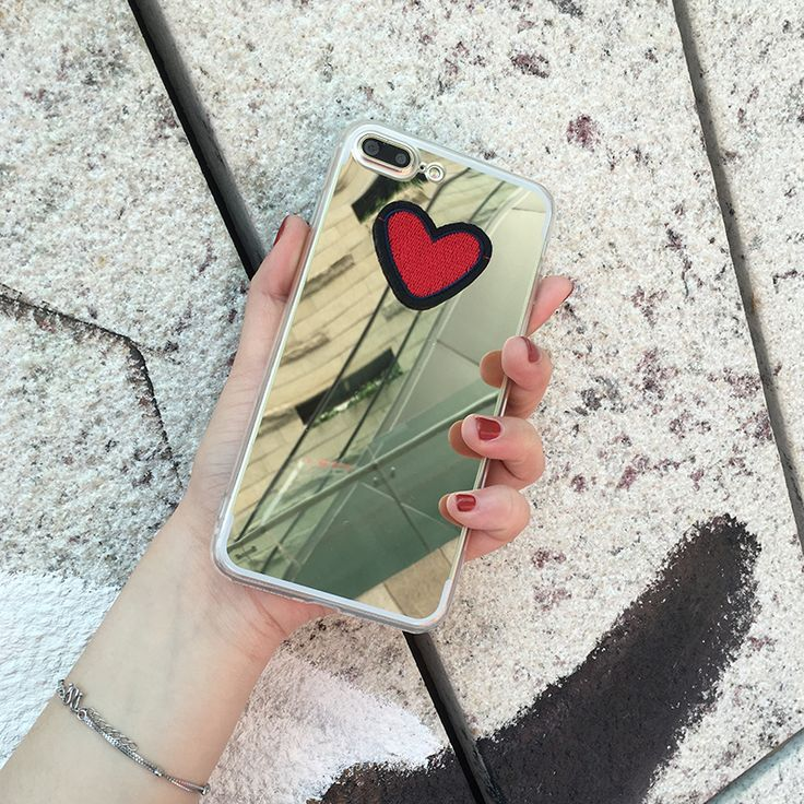 Girly Girl Shirts Iphone6&7 Case on Girly Girl の To Alice.Harajuku Heart Embroid Mirror Face Iphone6&7 Case Pmm Gg380 Use strong metallic, feel comfortable, perfect metallic luster. Shaped into an organic whole to achieve both top piece, has perfect appearance, and has strong ability to protect