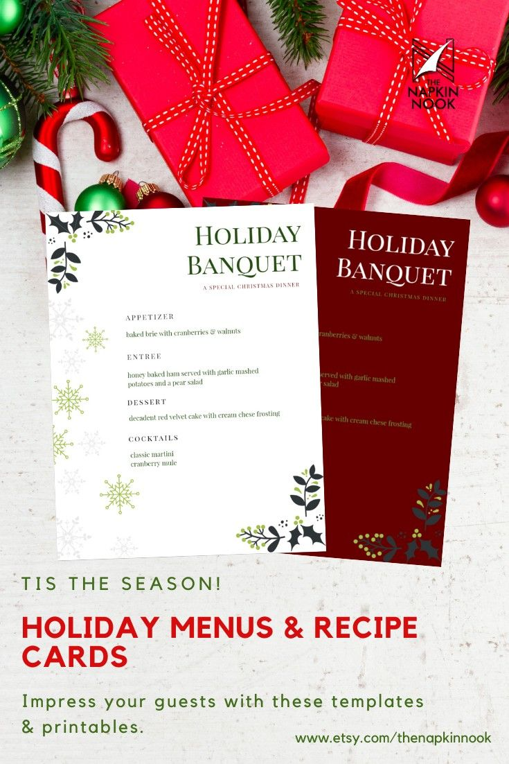 Need To Level Up Your Christmas Decor Or Holiday Event Check Out These Editable And Printable Christmas Menus Christmas Menu Dinner Menu Holiday Dinner Menu