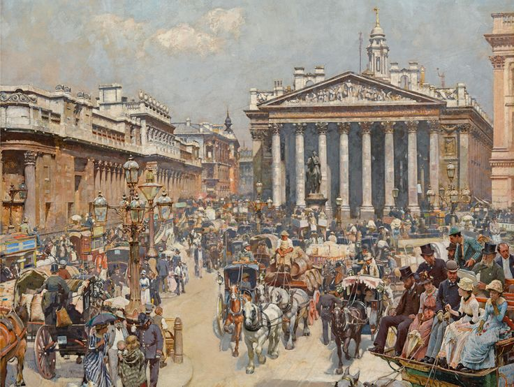 William Logsdail: The Bank and Royal Exchange (1887)