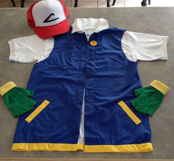 POKEMON Trainer - ASH Ketchum  Costume  -  Cosplay - Men's MEDIUM