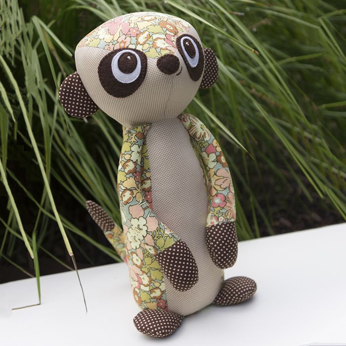 Mischief the Meerkat by Melly and me - patterns, books and fabrics #meerkat #softie #pattern