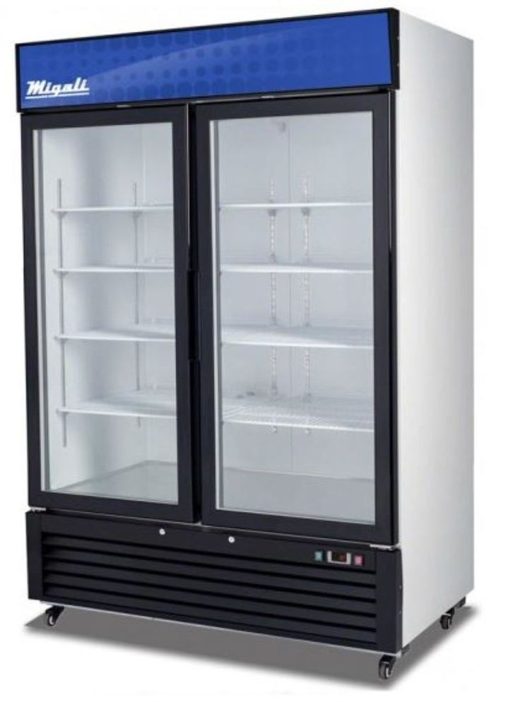 Migali C-49RM 55' Competitor Series Commercial Refrigerator with 49 cu. ft. Capacity Glass Door Bottom Mount Compressor White Powder Steel Exterior and Interior and Door Lock in >>> Check out the image by visiting the link.