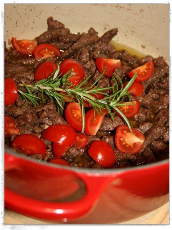 Chili, garlic and tagliatelle steak!