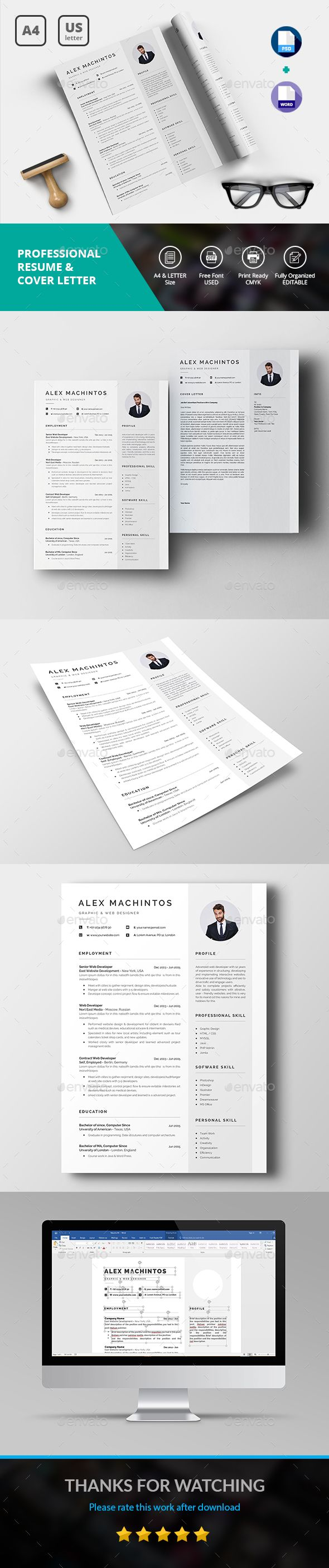 Cv Templates Design%0A  clean  minimalist  simple  modern  professional  Resume  CV  template