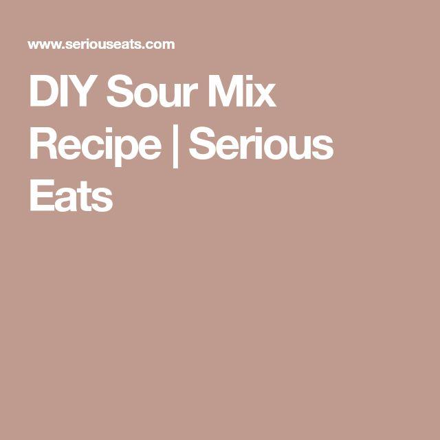 DIY Sour Mix Recipe | Serious Eats