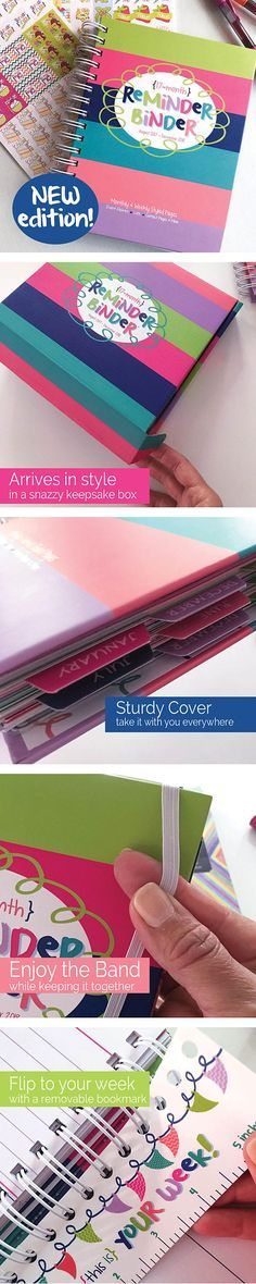 BLOW OUT SALE! 2017-18 Reminder Binder®️ Planner, weekly/monthly/yearly views, 360+ stickers, tabs, lists, contacts, keepsake box-Ships now! #afflink #planner #binder