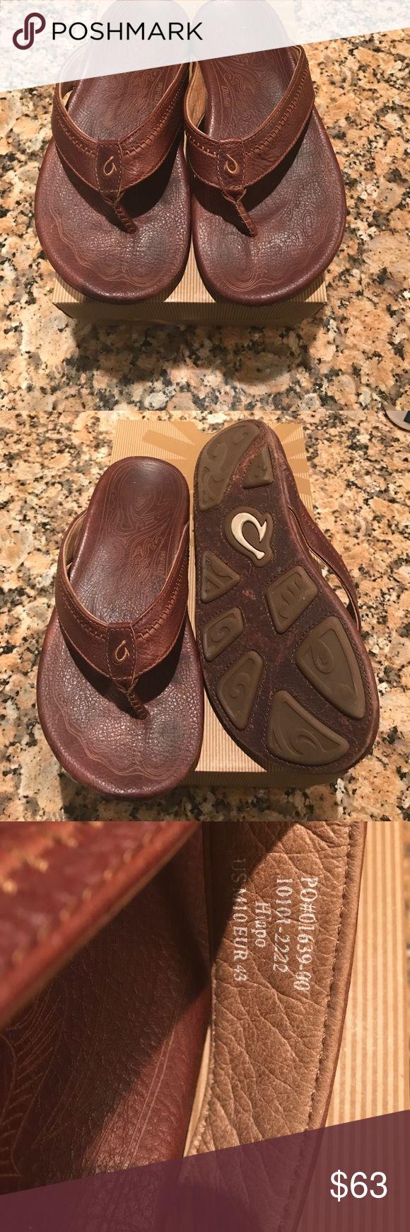 Olukai leather flip flops Hiapo size 10 OluKai Shoes Sandals & Flip-Flops