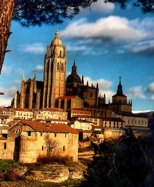 Catedral de Santa Mara de Segovia, Spain.   Go to www.YourTravelVideos.com or just click on photo for home videos and much more on sites like this.