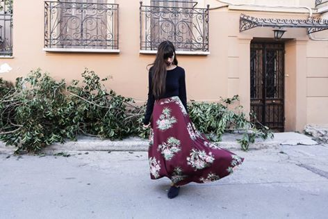 """REBECKA"" mixi skirt // the elephant print. Photo Theodore Manolopoulos #karavan #karavanclothing #karavangirl"