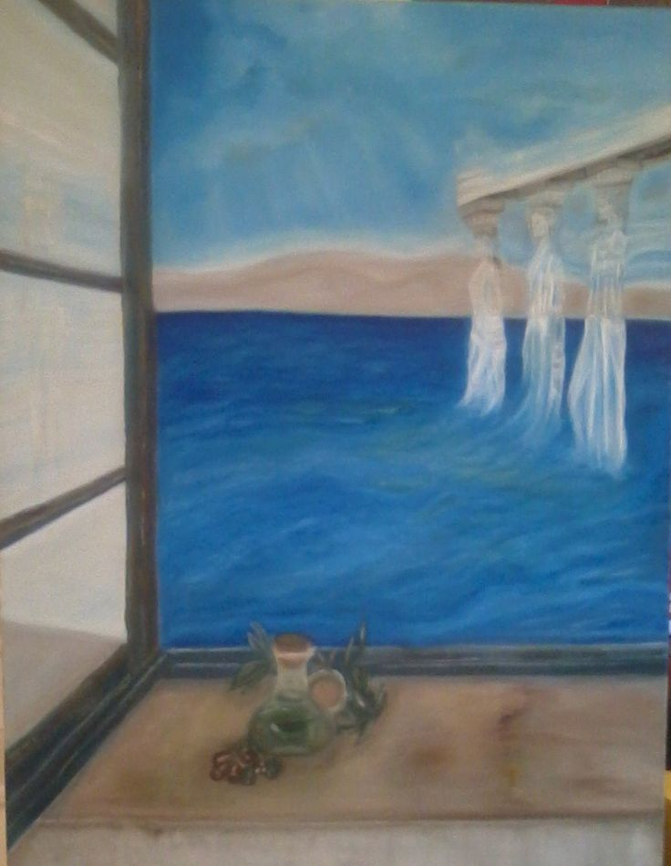 Flavor of Greece, oil on canvas by Litsa Raftopoulou