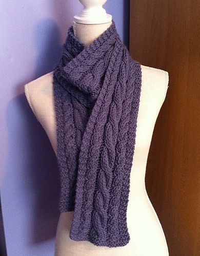 Ravelry: Easy Cabled Scarf pattern by Liz Cassidy