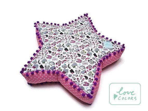 Nursery pillow decorative pillow star by LoveColorsByJulianna