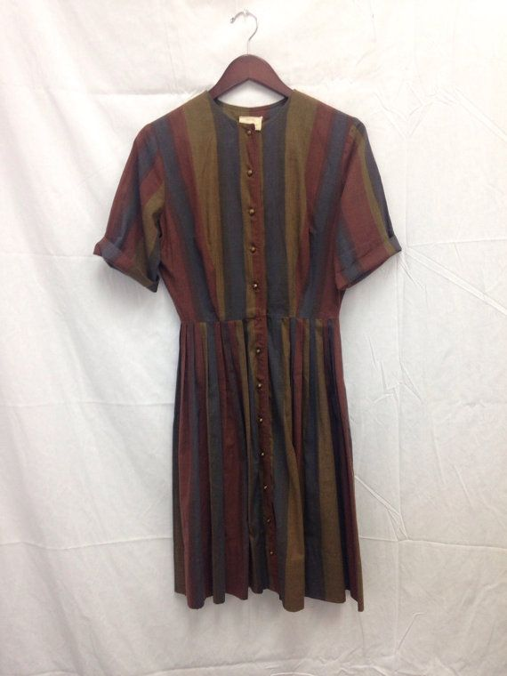 1950s striped dress by The Colleger. by graceaberdean01 on Etsy