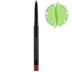 bareMinerals 100% Natural Lip Liner - Earth by Bare Escentuals. $15.00. Draw the line on irritating ingredients. Our all-natural lipliner is made without any preservatives, artificial dyes or parabens. So you feel good and look good. Give your lipcolor new depth and staying power with this precise, soft-tipped lipliner.Moisturizing formula glides on for a smooth and easy applicationNo sharpening needed as it's automatic, with a built-in sharpenerInfused with 1...