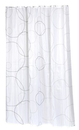 -Percent Polyester Fabric Print 72 by 84-Inch Shower Curtain, X-Long ...