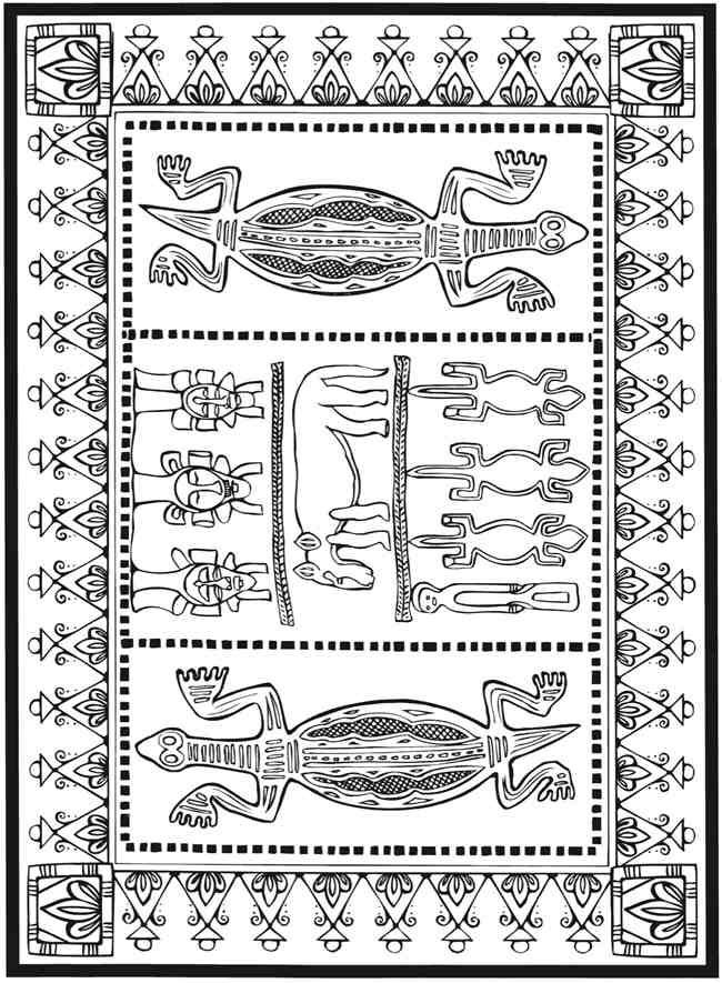 Dover Publications Sample Creative Haven African Designs Colouring Book
