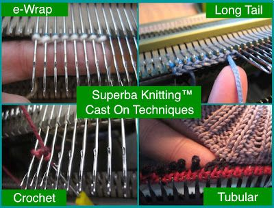 Superba Knitting™: Review Of Cast On Methods For Home Knitting Machines: With A Focus On The French Knitting Machine Brands SUPERBA, SINGER, PHILDAR and WHITE. ©Patrick Madden