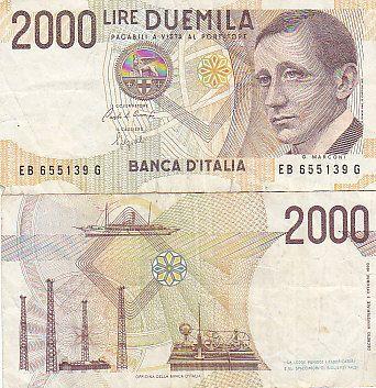 Le 2.000 lire di Marconi