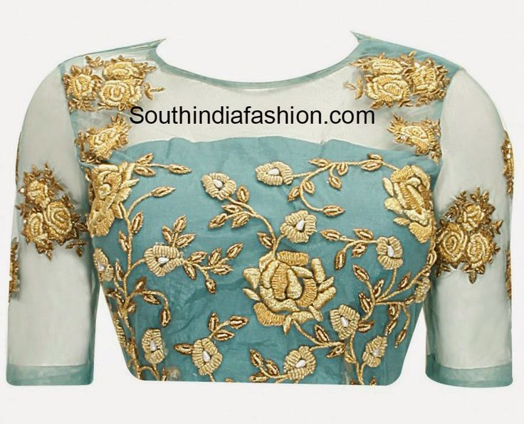 blouse with net on back ~ Fashion Trends ~ - South India Fashion