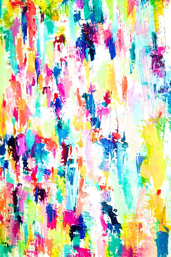 Mayfair Abstract by theartwerks - Colorful abstract paint smears design on fabri... | Abstract HD Wallpapers 4