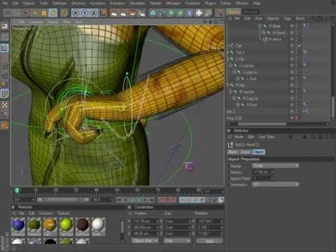 Cinema 4D Rigging 06 - A Look at Hand Controls using XPresso - YouTube