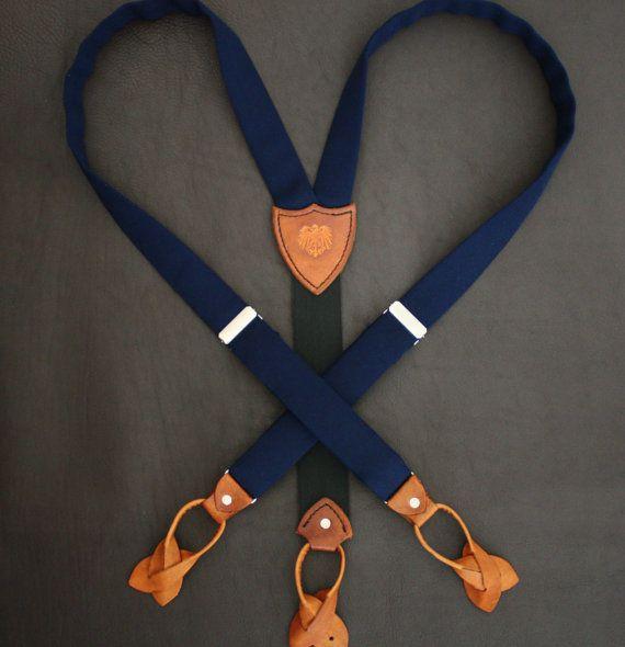 Handcrafted Men's Suspenders/Braces. 100% by BracedforSuccess